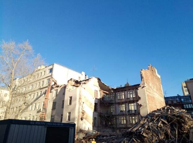 разрушение дома - снос дома