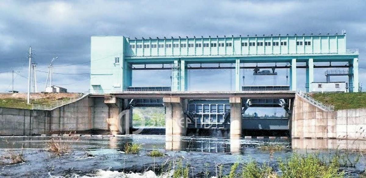 Гидротехническое сооружение на курском водохранилище